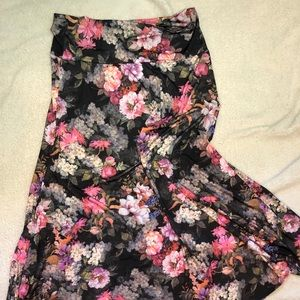 Lularoe Maxi Skirt Roses / Floral